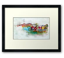 It's a Real Small Town Framed Print