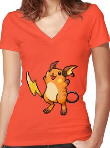 Pokemon - Raichu Sprite Women's Fitted V-Neck T-Shirt