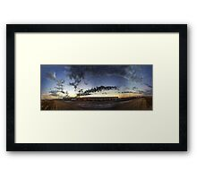 cloud panorama Framed Print