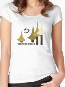Wyld Cannock Chase Forest (in twig) Women's Fitted Scoop T-Shirt
