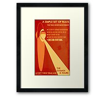 Rules for your Adventure in Science (Cosmos) Framed Print