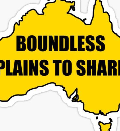 Boundless Plains to Share Sticker