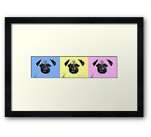 mops puppy trilogy Framed Print