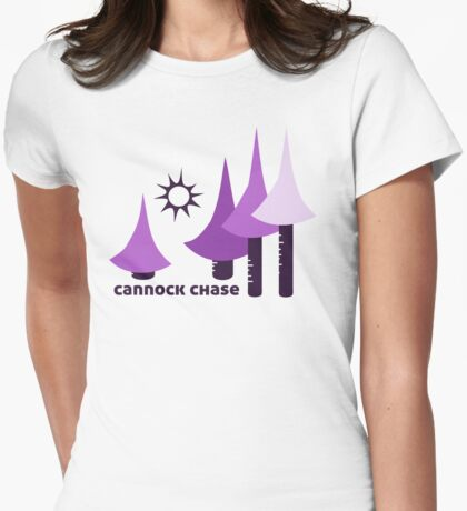 Wyld Cannock Chase t-shirt (in thistle) Womens Fitted T-Shirt