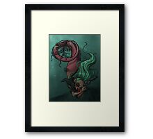 Gunmetal Mermaid Framed Print