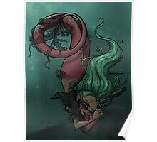 Gunmetal Mermaid Poster