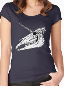 Unicorn Skull Women's Fitted Scoop T-Shirt