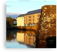 An Irish Quay Canvas Print