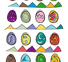 Easter eggs pattern of 16 by pygmycreative
