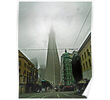 TRANSAMERICA BUILDING AND THE COLUMBUS TOWER Poster