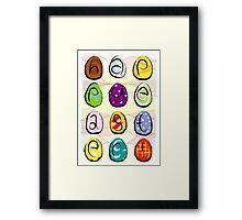 Easter eggs - happy easter Framed Print