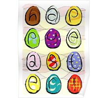 Easter eggs - happy easter Poster