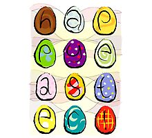 Easter eggs - happy easter Photographic Print