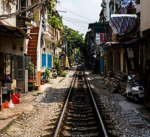 Train Tracks: Hanoi, Vietnam by thewaxmuseum