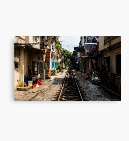 Train Tracks: Hanoi, Vietnam Canvas Print