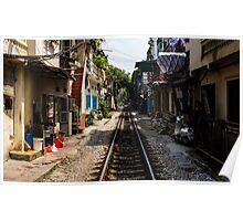 Train Tracks: Hanoi, Vietnam Poster