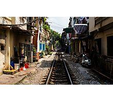Train Tracks: Hanoi, Vietnam Photographic Print