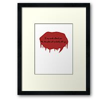 If My Words Offend You.... Framed Print