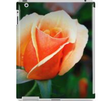 Peach rosebud iPad Case/Skin