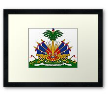 Coat of Arms of Haiti  Framed Print
