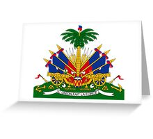 Coat of Arms of Haiti  Greeting Card