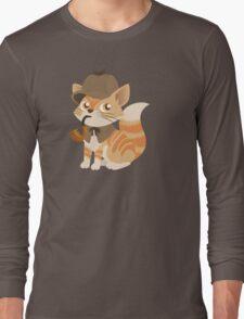 Cute Sherlock Holmes Kitten Long Sleeve T-Shirt