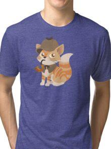 Cute Sherlock Holmes Kitten Tri-blend T-Shirt