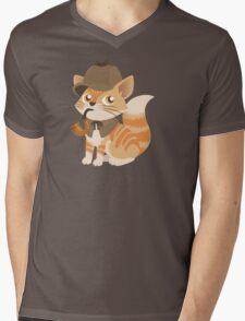 Cute Sherlock Holmes Kitten Mens V-Neck T-Shirt