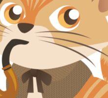 Cute Sherlock Holmes Kitten Sticker