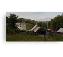Farmstead From Behind Canvas Print