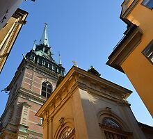 Church Spire in Stockholm by lebencivengo