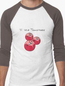 Vegetables tomatoes nature garden Men's Baseball ¾ T-Shirt
