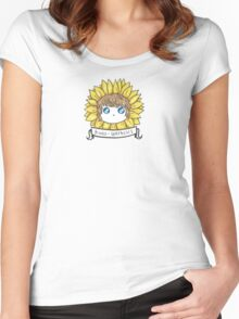Frodosynthesis Sunflower Chibi Women's Fitted Scoop T-Shirt