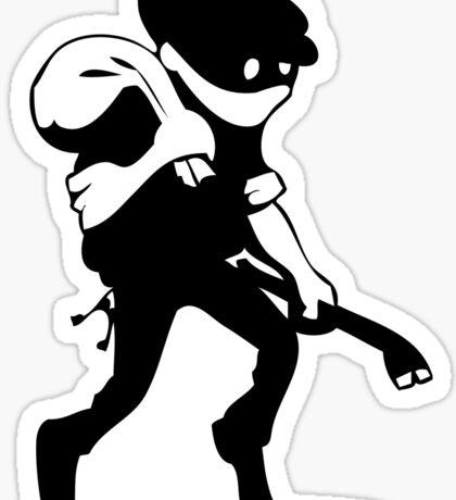 Burglar Sticker