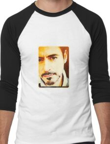 RDJ in Sepia  Men's Baseball ¾ T-Shirt