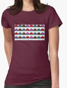 Pokeball Palooza Womens Fitted T-Shirt