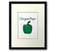 Vegetables peppers nature garden Framed Print