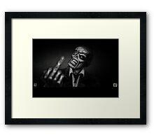 Dead - 1-Finger Salute Framed Print