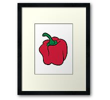 Vegetables peppers organic garden Framed Print