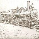Nostalgic train drawing by RobCrandall