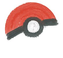 Painted Poké Ball by bobknarwhal
