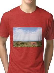 old house Sithonia Halkidiki Greece landscape Tri-blend T-Shirt
