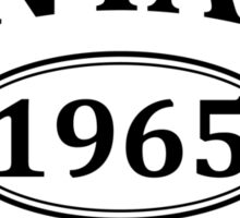 Vintage 1965 Aged to Perfection Sticker