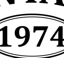 Vintage 1974 Aged to Perfection Sticker