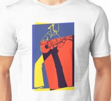 Retro Pop Art Guitarist Unisex T-Shirt