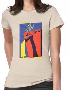 Retro Pop Art Guitarist Womens Fitted T-Shirt