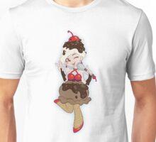 Ice Cream Scoop Cherry on Top Unisex T-Shirt