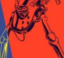 Pop Art Skeleton Rocker Sticker