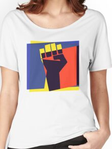 Black Power Fist Women's Relaxed Fit T-Shirt