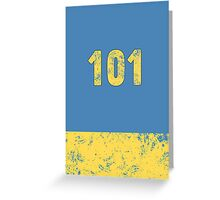 Fallout Vault 101 - Light Blue Greeting Card